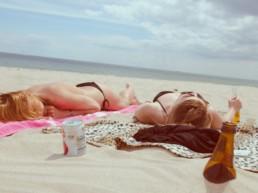 sun exposure on the beach